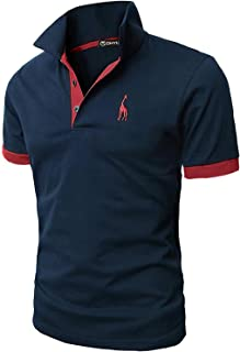 GHYUGR Mode Polo Homme Manche Courte Casual T-Shirt Slim Fit Broderie Tops S-XXL