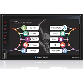 "Blaupunkt New York 750 6.75"" Capacitive Touchscreen/Android Auto/Wireless Apple Car Play/USB/Aux/BT Car Media Player"