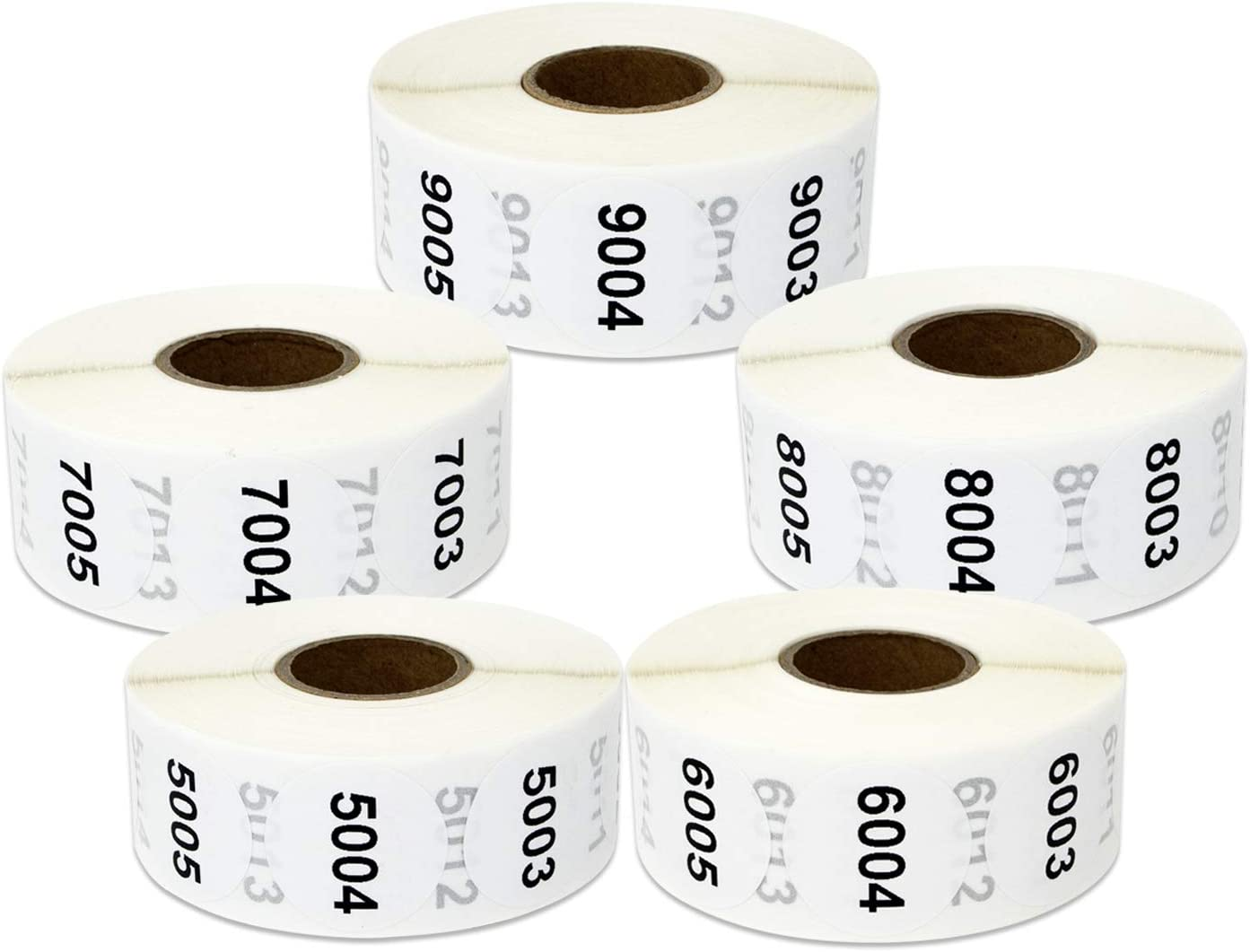 5000 Labels - 5001 Special price to 10000 Sticker Consecutive Charlotte Mall Number fo Bundle