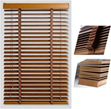 ZHEWEN Roll Up Window Roller Blind Bamboo Curtain Blinds Wooden Moisture Proof Sun Protection Blackout Curtain Home Office...