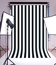 Laeacco Customizable 5x7ft Vinyl Photography Background Backdrop Dark Blue Blurry Black and White Stripes Theme Backdrop Photo Studio Props 1.5(w) x2.2(h) m