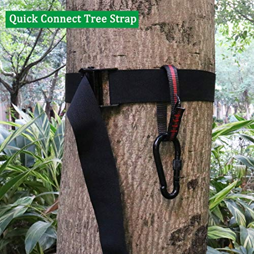 Read About Boaton Hunting Tree Stand Strap, Quick Connect Strap with Safety Belt, Tree Climbing Stra...
