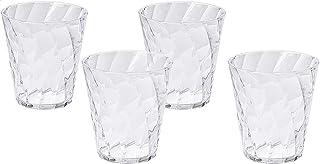 Omada Diamond Drinkware Cup Set, 350 ml - Clear