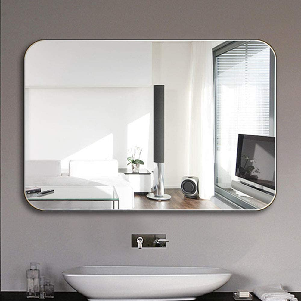 Bathroom Mirror Frameless Wall Mounted Square Mirror Size 500x700 600x800mm Amazon Co Uk Home Kitchen