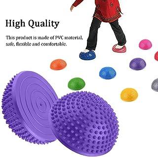 Bolas de Masaje Medio de Pies de Punta Profunda de Disparador de Punto de Rodillo de Juego PVC Pelotas de Yoga Media Inflable de Masaje Punta Fitball Ejercicios de Aptitud de Entrenador Equilibrio