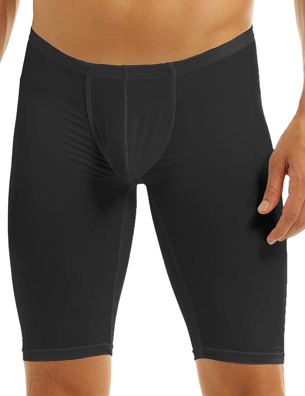 TSSOE Men's Compression Fitness Sheer Shorts Yoga Capris Overseas parallel import regular item Sale Tights