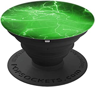 Green Lightning Strike Electricity - PopSockets Grip and Stand for Phones and Tablets