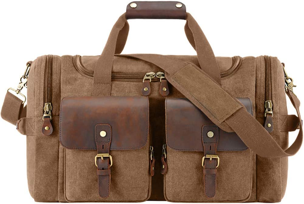 GOFEI Portable Popular shop is All stores are sold the lowest price challenge Outdoor Sports Bags Leather W Canvas and Vintage