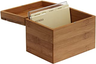 Oceanstar RB1408 Bamboo Recipe Box with Divider, Natural