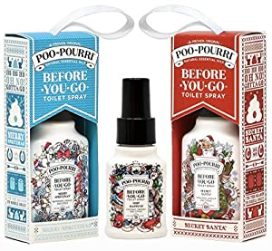 Poo-Pourri Merry Spritzmas 2 Ounce, Secret Santa 2 Ounce in Gift Box, and Ship Happens 1.4 Ounce Bottle
