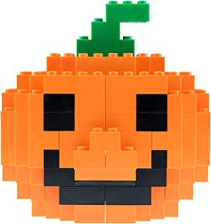 Strictly Briks - Classic Briks Jack-O-Lantern - Building Bricks & Blocks Set - 100% Compatible with All Major Brands - Halloween Brick Construction Toy - 123 Pieces