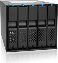 ICY DOCK (UPDATED VERSION) FlexCage MB975SP-B R1 Tray-less 5 Bay 3.5 SATA Hard Drive Hot Swap Backplane / Cage / Mobile Rack in 3 x 5.25 Drive Bay