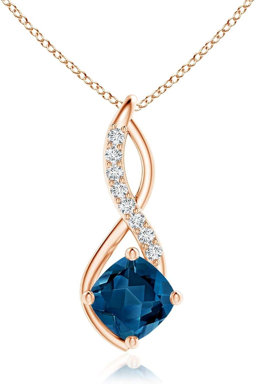 November Birthstone Regular discount Award-winning store - London Blue Pendant with Topaz Infinity Di