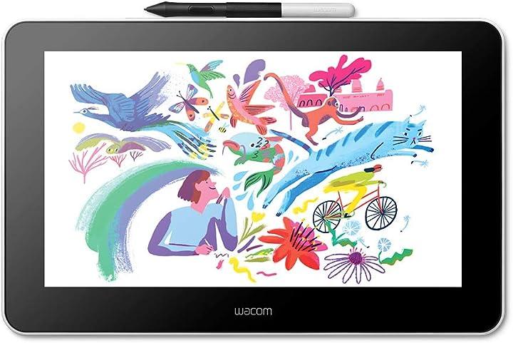 Tavoletta display wacom one creative con software inclusi per schizzi e disegni su schermo display da 13.3 DTC133W0B