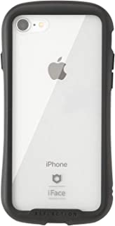 iFace Reflection iPhone SE 2020 第2世代/8/7 ケース クリア 強化ガラス [ブラック]