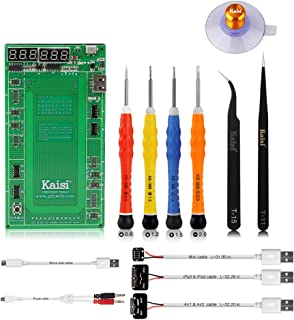 Kaisi 9201 Battery Tester Battery Charger and Activation Board Battery Repair Kit Compatible for iPhone 4 4s 5 5c 5s 6 6 Plus 6s 6s Plus 7 7 Plus 8 8Plus, iPad 1 2 3 4 Mini 2 3 4 Air 2 (14PCS)