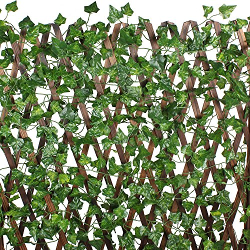 MIHOUNION 7.2 Feet×12pcs Artificial Ivy Leaves Plants Silk Hanging Vines Fake Ivy Strand Garland Home Garden Fence Wedding Festival Poison Ivy Costume Outdoor Decor