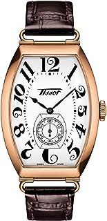 ساعة تيسوت للبالغين بورتو ميكانيكال رسمية ستانلس ستيل موديل T1285053601200- وردي ذهبي