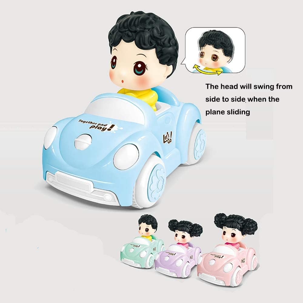AHUA Pull Back Toy Cars for Toddlers Push and Go Inertial Soft Shell Car Cartoon Animal Friction Powered Car Toys Party Favors for Kids Gift for Boys Girls Age 1,2,3,4
