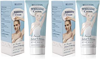 Whitening Cream Effective Lightening Cream 2 Packs for Armpit, Knees, Elbows, Sensitive and Private Areas, Brightens & Nourishes Repairs Skins