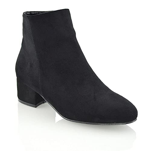 eca56daf361da Size 4 Black Suede Ankle Boots: Amazon.co.uk