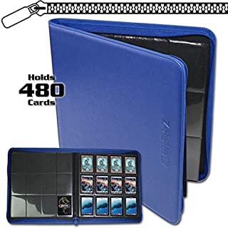 BCW Z-Folio LX Zipper Portfolio Blue 12 Pocket Playset Album