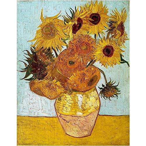 JHGJHK Pintura de Arte Pintura de Paisaje Flor Abstracta Pintura de Paisaje decoración de Interiores Pintura al óleo 3