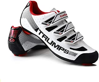 Tiebao Road Cycling Lightweight Breathable Shoes Men Anti Slip Sports Sneakers Style Bike SPD Compatible Indoor Fitness Bi...
