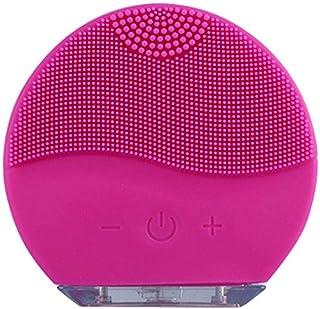 فرشاة التنظيف الوجه سيليكون بالموجات فوق الصوتية جهاز التدليك