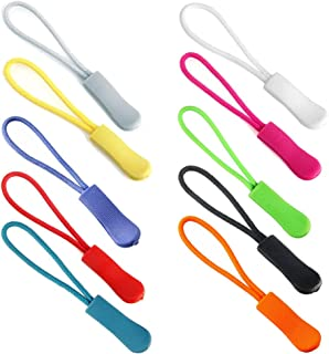 Z Zicome Colorful Zipper Pulls for Backpacks, Luggage and Jackets, Set of 20
