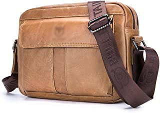 Mens Bag For Men 2 First Layer Cowhide Shoulder Slung Sports Leather Cross Section Bags High capacity