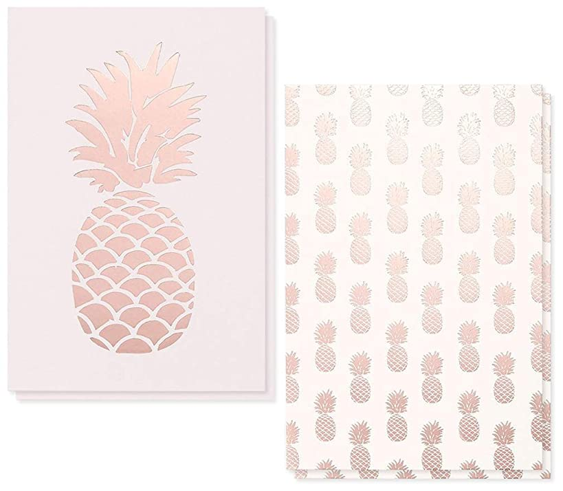 36-Pack Assorted All Occasion Greeting Cards - Pink Pineapple Design Assortment - Bulk Box Set with Envelopes Included - 2 Designs, 4 x 6 Inches