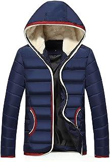 Colletto Caldo da Uomo Cappuccio Imbottito da Giacca Invernale Abbigliamento Cappotto Vintage da Outwear Cappotto Invernal...