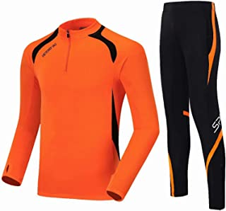 ANUFER Boy's Men's Long Sleeve Football Tracksuits Quick Dry Outdoor Sportswear Set
