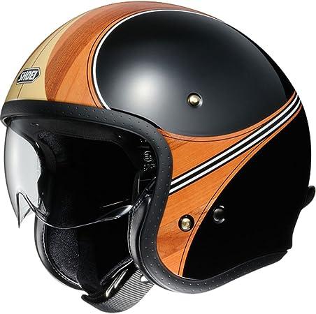 Shoei J O Waimea Open Face Motorcycle Helmet Small Black Brown Auto