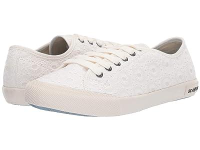 SeaVees Monterey Sneaker Embroidery (White Eyelet) Women