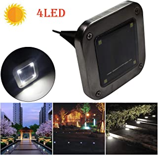 4pcs Solar Ground Lights, Solar Disk Lights with 16 LED Outdoor Waterproof In-Ground Lights for Lawn, Pathway, Garden, Driveway, Patio