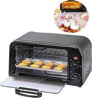 ZBHGF Mini horno Toast Grill eléctrico capacidad 10 L con bandeja y estante visible para carne verdura puerta de cristal templado ideal