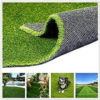 Conscience Trading 人工芝 ( 0.8インチ カスタマイズサイズ) 犬用 人工芝 野外 ラグ 4色 自然に見える人工芝 庭 裏庭 プール 床 リアルな芝 6FTx8FT