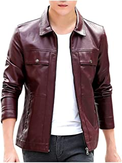 Outwear Fashion Solid Long Sleeve Leather Tops