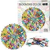 500 piezas de rompecabezas circulares, rompecabezas de la serie de caleidoscopio mágico arcoíris para adultos, alivio del estrés, juegos de educación intelectual para niños, regalos (vistoso)