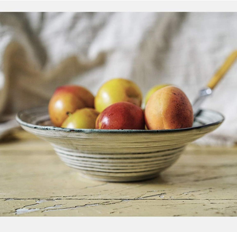LKK Bol en céramique Vintage de nouille de Bol à Salade pour la Parcravate de Famille appropriée au gris de Micro-Ondes de Lave-Vaisselle 6  20cm (Couleur   4 Packs)