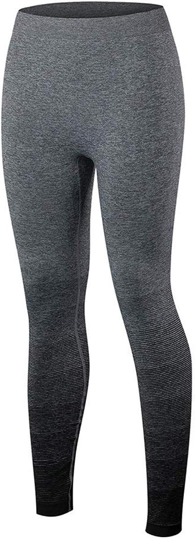 SCRT Yoga-Hose Für Damen Sport Fitness Laufhose Für Training Schnell Trocknende Hose Mit Farbverlauf (Farbe   Schwarz, gre   M)