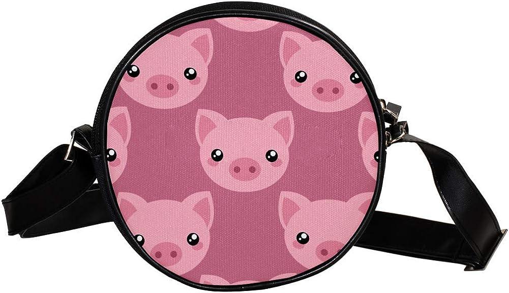 Sale item Coin Purse For Kids Cartoon Pink Gir Pig Head Max 44% OFF Bag Crossbody Mini