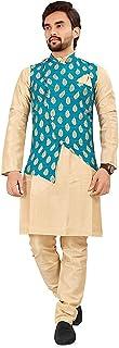 Amzira Kurta Pajama with Nehru Style Koti Set for Mens