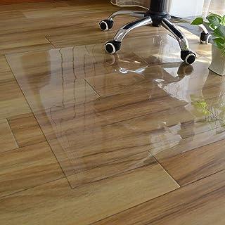 Xpnit Alfombrilla transparente para silla de PVC, protector de mesa, antideslizante, resistente al desgaste, protector de suelo de madera dura, rectangular (100 x 150 cm)