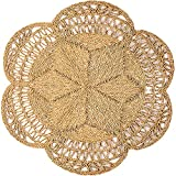 Circle Rug of Rattan Rug, Natural Rug Round 4 Ft, Round Jute Rug, Area Rugs, Farmhouse Rugs, Woven Rug, Boho Rug for Bedroom, Outdoor Rugs for Patios, Rattan Wall Decor, Seagrass Rug 4ft, Flower Rug