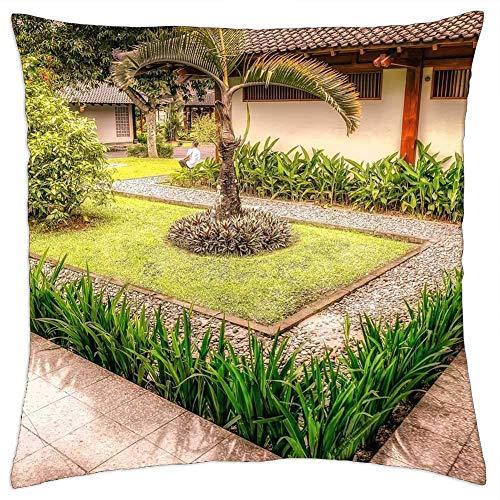 Pamela Hill Kissenbezüge Hüllen Bali Gärten Grün Indonesien Balinesisch Asien Für Schlafsofa Home Decoration, 18 x 18 Zoll