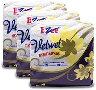 Ezee Tissue Paper Napkins - 100 Pieces (Pack of 3)