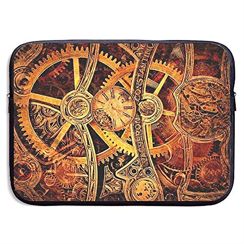 Laptop Sleeve Case Cool Steampunk Gears Notebook Bag Laptop Shoulder Bag Protective 15 Inch